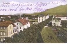 Razglednica: Radovljica, del Gorenjske ceste – Festova vila