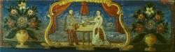 Inv. številka: MRO; ČM-0000204 Panjska končnica: Avstrijski cesar Franc Jožef in kraljica Elizabeta