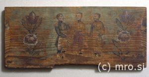 Poslikana panjska končnica. Trije kongresni cesarji.
