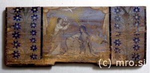 Poslikana panjska končnica. Marijino oznanenje.