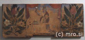 Poslikana panjska končnica. Sv. Barbara
